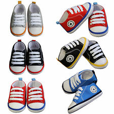 Baby Kids Toddler School Lace Up Unisex Canvas Casual Football Shoes Anti -Skid