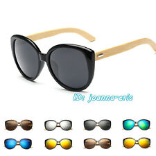Bamboo Wood Temple Square Mens Womens High Quality Sunglasses UV400 Protection