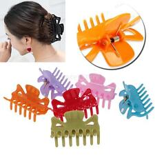 10Pcs Women Girls Plastic Clear Hair Claw Clip Jaw Clamp Multicolor Hairpin Hot