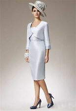 3/4 Sleeve Women Formal Occasion Outfits With Jacket Mother Of the Bride Dresses