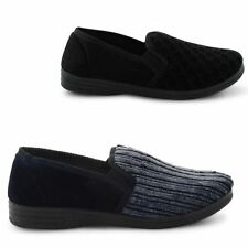 NEW MENS CASUAL SOFT ELASTICATED GUSSET SLIPPERS SLIP ON COMFY SHOES SIZE 6-13