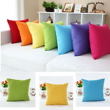 Candy Colorful Soft Micro Suede Sofa Pillow Case Cushion Cover Home Decor
