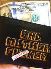 BMF® BRAND BAD MOTHER F*CKER BLACK NEW Wallet Embroidery Leather Free Shipping