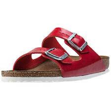 Birkenstock Arizona Birkoflor Narrowfit Womens Sandals Red Patent New Shoes