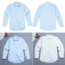 Men's Classic Slim Fit Spread-Collar Solid Dress Shirt Casual Business Non-Iron