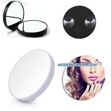 Travel Makeup Mirror 10X Magnifying Suction Mounted Cosmetic Shaving Mirrors B/W
