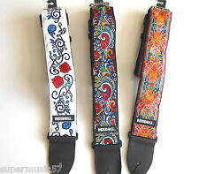 ADJUSTABLE JIM DUNLOP JIMI HENDRIX PHSYCHEDELIC ELECTRIC/ACOUSTIC GUITAR STRAP