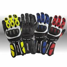 RAYVEN RACE-TEK LEATHER MOTORCYCLE BIKE SPORTS PROTECTIVE ROAD VENTED GLOVES