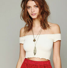 NEW Free People Intimately Smocked Crop Top in Ivory Size XS/S & M/L $54.11