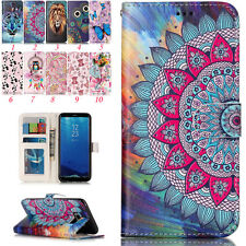 Magnetic Wallet PU Leather Pattern Stand Card Flip Pouch Case Cover for Samsung