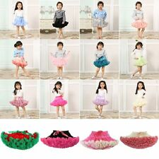 0-10Y Kid Girl Princess Dance Tutu Dress Fluffy Pettiskirt Skirt Petti Party UK