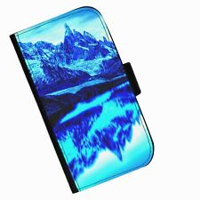 BG 113 MOUNTAIN MIRROR PRINTED LEATHER WALLET/FLIP CASE COVER FOR MOBILE PHONE