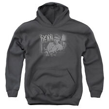 Dean/Worn Out Youth Pull Over Hoodie Charcoal  Dea444