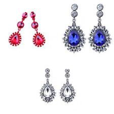 Charm Crystal Rhinestone Tear Drop Dangle Earrings Wedding Bridal Party Jewelry