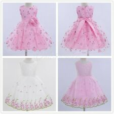 Baby Flower Girl Lace Princess Formal Party Wedding Birthday Pageant Tutu Dress