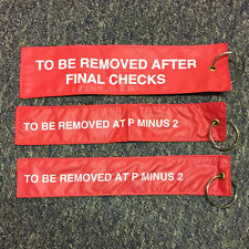 BRITISH ARMY SURPLUS PARACHUTE STATIC LINE RED WARNING FLAGS FOR RETENTSION PINS