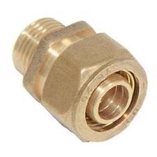Brass Screw Aluminum Pipe Threaded Compression Male Fitting Coupling Connector