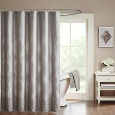 "Classy Grey Woven Zig Zag Textured Fabric Shower Curtain - 72"" x 72"""