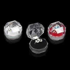 20Pcs Clear Acrylic Crystal Ring Box Earrings Storage Case Organizer Jewellery