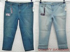 NEW Womens Gloria Vanderbilt Bridget Crop Jeans Mid Rise Ankle Stretch Plus Size