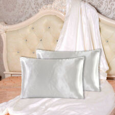 2pcs Brand New By US Standard Size Silk~y Satin Pillow Case Multiple Colors