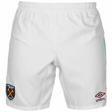 Umbro West Ham United FC Home Shorts 2016 2017 Mens White/Claret Football Soccer