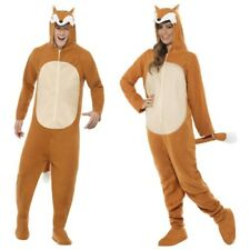 Smiffys Adults Party Animals All In One 3D Fox Hood Fancy Dress Costume Outfit