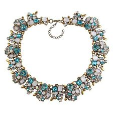 Chunky collier vintage gem crystal boho statement choker bib necklace jewelry