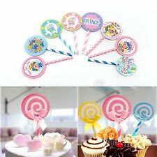 6-30pcs CUPCAKE CAKE PICKS TOPPERS BIRTHDAY BABY SHOWER CAKE STRAW TOPPERS