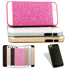 Silver Luxury Bling Glitter Hard Plastic Back Case Cover for iPhone 5 5S