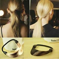 Trendy Women Braid Straight Wig Elastic Hair Band Rope Scrunchie Ponytail Holder