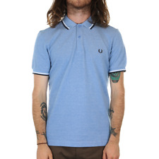 Fred Perry Twin Tipped Polo Shirt - Prince Blue Oxford