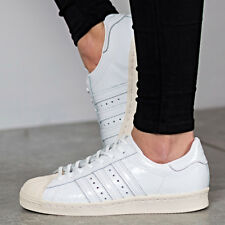 ADIDAS SUPERSTAR 80S WOMENS WHITE SHOES BB2056 Size 5 6 7 8 SNEAKER