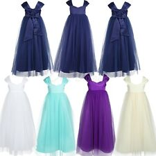 Flower Girls Princess Dresses Kids Baby Party Gown Wedding Formal Pageant Tulle