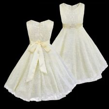 Summer Flower Girls Pageant Dresses Lace Tulle for Wedding Ball Gown Graduation