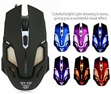 Pro Adjustable 2400DPI Optical LED USB Wired Game Mice Gaming PC Working Mouse