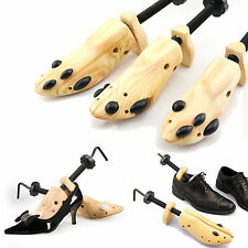 Men Women Wooden Adjustable 2-Way Professional Shoe Holder Stretcher Shaper Tree