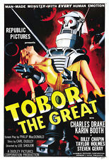 Tobor The Great Movie Poster Print - 1954 - Science Fiction - 1 Sheet Artwork