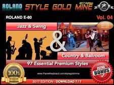 97 NOUVEAUX STYLES Swing Jazz & Country BallRoom Roland E80 EDITION 2017