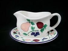 Princess House Orchard Medley Gravy Boat & Underplate- Very Fine