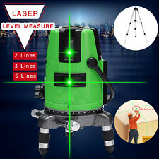 2/3/5 Green Line Laser Level 360 Rotary Outdoor Self-leveling Measure w/Tripod