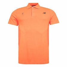 Liverpool FC  New Balance Mens Orange M4M Seamless Polo Official