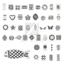 Wholesale Tibetan Silver Metal Beads Spacer Loose Charm Jewelry Making 50 Styles