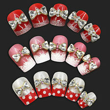 10x 3D Alloy Rhinestone Bow Tie Bowknot Nail Art Decoration Stickers DIY Rapture