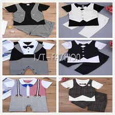 Toddler Kid Baby Boy Gentleman Suit Waistcoat Tops Shirt Pants Formal Outfit Set