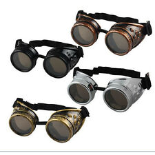Vintage Victorian Steampunk Goggles Retro Welding Glasses Punk Gothic Cosplay