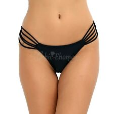Women's CHEEKY Ruched Swimwear SWIM Brazilian Thongs Bikini Bottoms Underwear