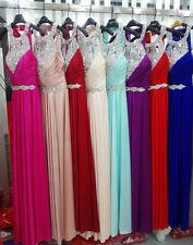 Long Chiffon Gown Bridesmaid Dress Formal Evening Cocktail Party Prom Dress