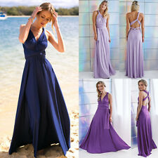 Women Evening Dress Convertible Multi Way Wrap Bridesmaid Formal Long Dresses GY