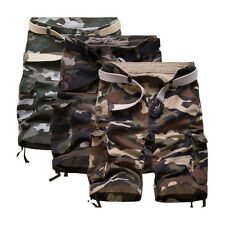 Plus Size Men Camouflage Cargo Shorts Pants Casual Trousers Combat Army Military
